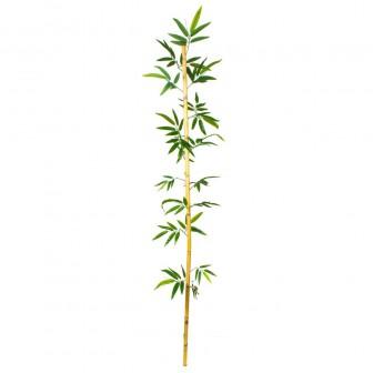 Dekoratif Yapay Yapraklı Bambu Çubuk 210 Cm