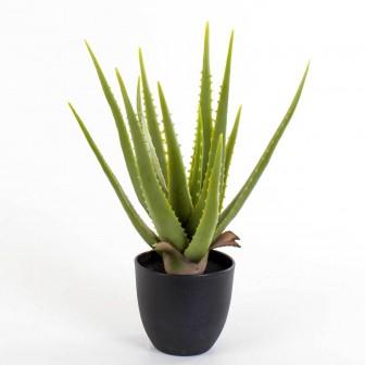 Saksıda Yapay Bitki Aloe Vera 43 Cm
